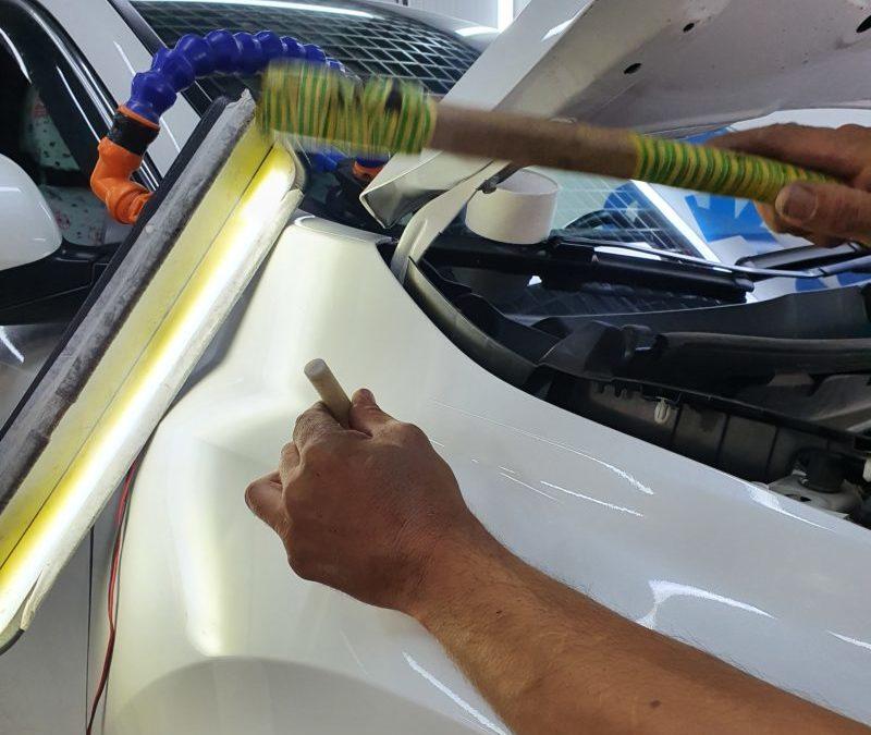 Honda CR-V — ремонт вмятины на переднем правом крыле