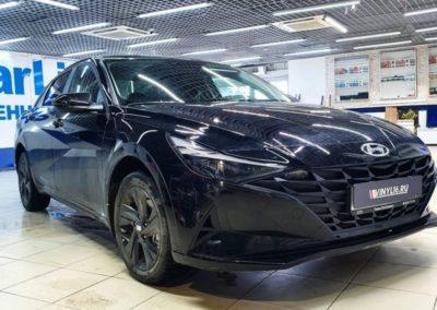 Hyundai Elantra — затонировали заднюю полусферу плёнкой LLumar 95%