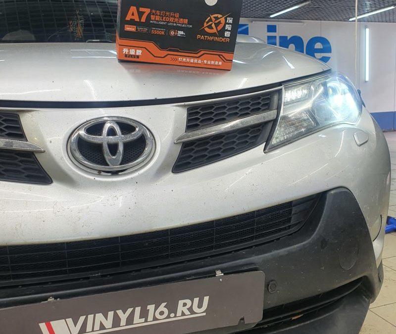 Замена линз на передних фарах автомобиля Toyota Rav 4