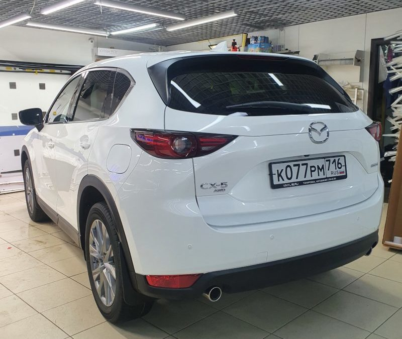Mazda CX-5 — комплексное бронирование полиуретановой пленкой, установка видеорегистратора с 2-мя камерами
