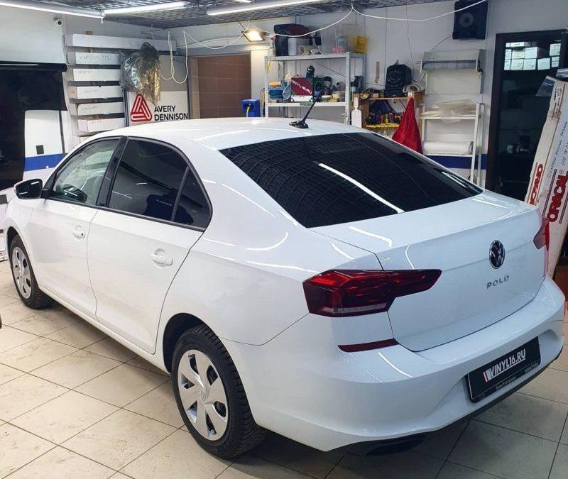 Новый Volkswagen Polo на тонировке, бронировании и установке сигнализации