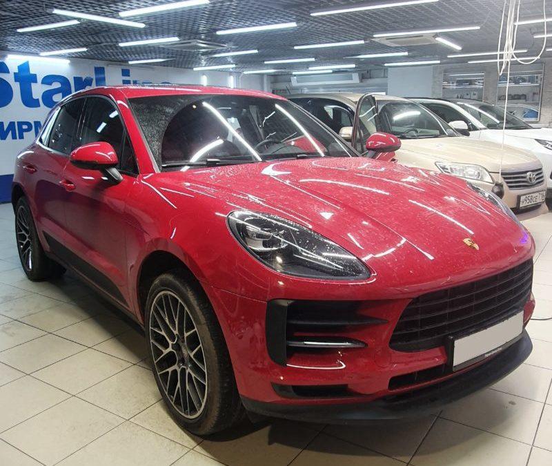 Porsche Macan — ремонт вмятин на 2-х правых дверях